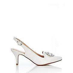 Wallis - Ivory court shoes