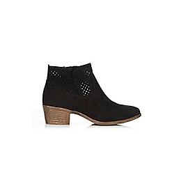 Wallis - Black faux suede ankle boots