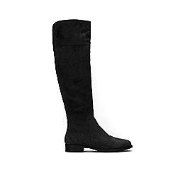 Wallis - Black over the knee flat boots