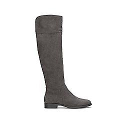 Wallis - Grey over the knee flat boots
