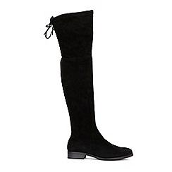 Wallis - Black flat lace boots