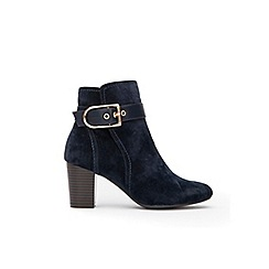 Wallis - Navy belt buckle ankle boots