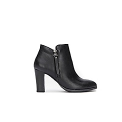Wallis - Black platform side zip ankle boots