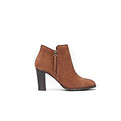 Wallis - Tan platform side zip ankle boots