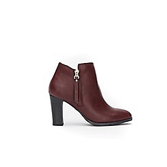 Wallis - Wine platform side zip ankle boots