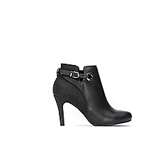 Wallis - Black croc buckle ankle boots