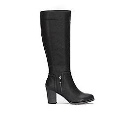 Wallis - Black small side zip high heel boots