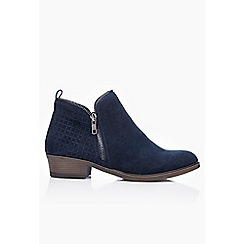 Wallis - Navy low heel ankle boot