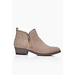 Wallis - Taupe low heel ankle boot