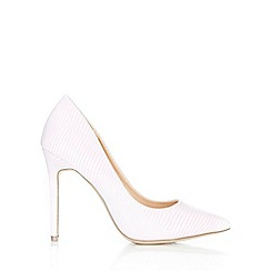 Wallis - Grey pointed court shoes
