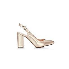 Wallis - Metallic gold slingback block heel sandals