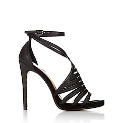 Wallis - Black caged stiletto sandal