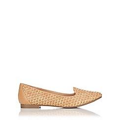 Wallis - Camel woven ballerina shoe