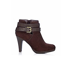 Wallis - Mix material platform ankle boot