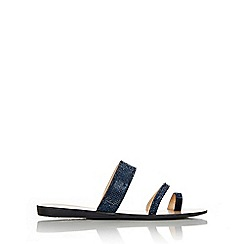 Wallis - Navy glitter slip on sandal