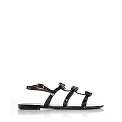 Wallis - Black bow flat sandal