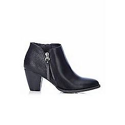 Wallis - Black block heel ankle boot