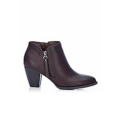 Wallis - Brown block heel ankle boot