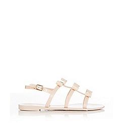 Wallis - Nude bow flat sandal