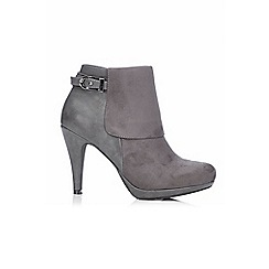 Wallis - Dark grey platform boot