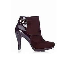 Wallis - Wine  trim platform boot