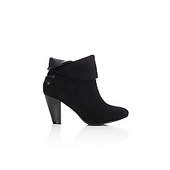 Wallis - Black fold over ankle boot