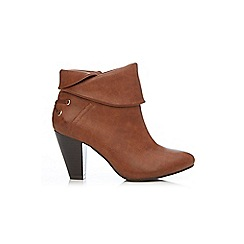 Wallis - Tan fold over ankle boot