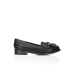 Wallis - Black tassle loafers