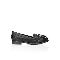 Wallis - Black tassle loafers