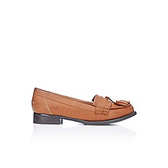 Wallis - Tan tassle loafers