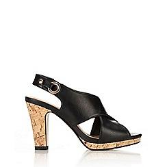 Wallis - Black slingback heeled sandal