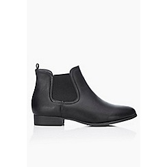 Wallis - Black low heel chelsea boots