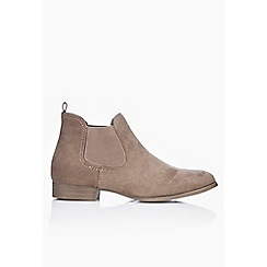 Wallis - Taupe low heel chelsea boot