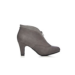 Wallis - Grey leather look shoe boot