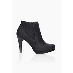 Wallis - Black platform heeled ankle boots