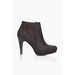 Wallis - Brown platform heel ankle boots