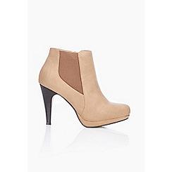 Wallis - Camel platform heel ankle boots