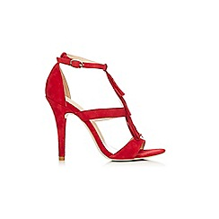 Wallis - Red fringed heeled sandal