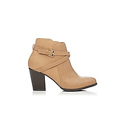 Wallis - Tan strap and buckle ankle boot