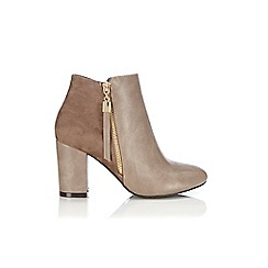 Wallis - Taupe mix material ankle boot