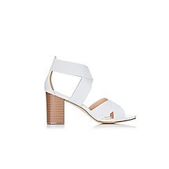 Wallis - Grey mid heel sandals
