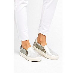 Wallis - Silver slip on trainers