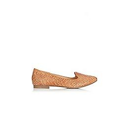 Wallis - Camel weave loafer shoes