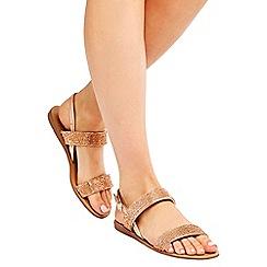 Wallis - Nude diamante sandals