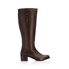 Wallis - Brown hilton high leg boot
