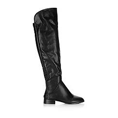 Wallis - Black over the knee flat boot