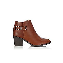 Wallis - Tan leather look ankle boot