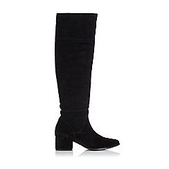 Wallis - Black suedette knee high platform boot