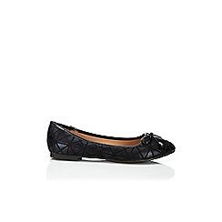 Wallis - Black printed ballerina shoe