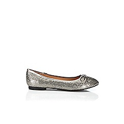 Wallis - Silver glitter ballerina shoe